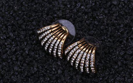 Fashion Icon Náušnice elegantní společenské s krystalky