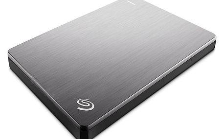 Seagate BackUp Plus Slim Portable 1TB, stříbrná - STDR1000201 + Seagate Backup Plus Slim bumper na externí disk