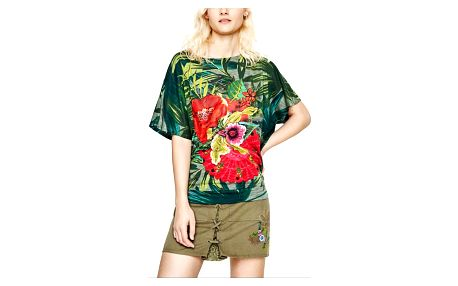 Desigual zelené tričko Maroni - M