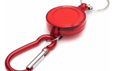 Karabina na klíče se samonavíjecím lankem