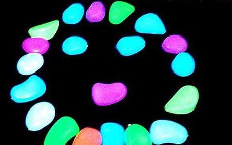 Svítící kamínky do akvária - 20 kusů
