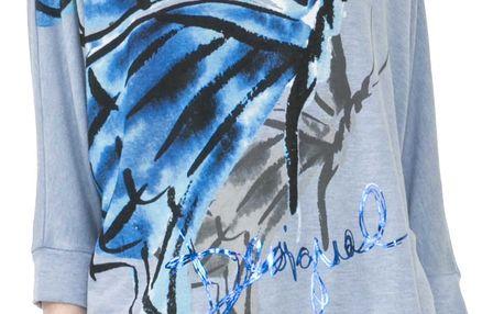 Desigual modré tričko Mireia - M