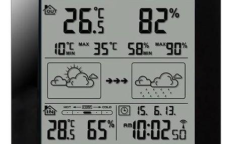 Meteorologická stanice Hyundai WS 2244 B černá + Doprava zdarma