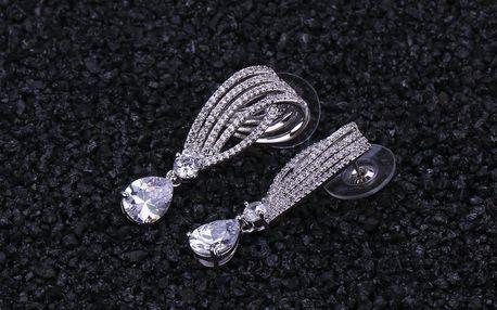 Náušnice spirálové s malými krystalky