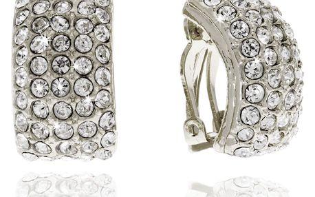 Fashion Icon Náušnice obdélník s krystalky