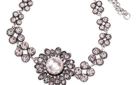 Fashion Icon Náramek květina sedmikráska s perlou
