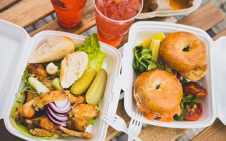 Jídlo a pití na piknik u Košíkovské nádrže