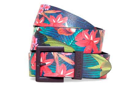 Desigual barevný pásek Basic Flores Tropical Fly - 85