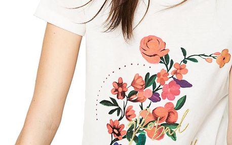 Desigual bílé tričko Marina - L
