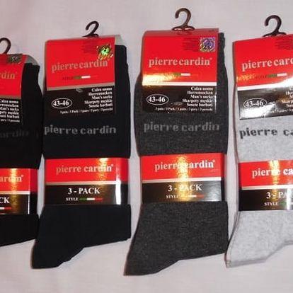 3 páry bavlněných ponožek Pierre Cardin pro muže i ženy - několik barev a velikostí