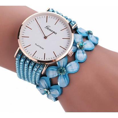 Dámské hodinky náramkové - květiny