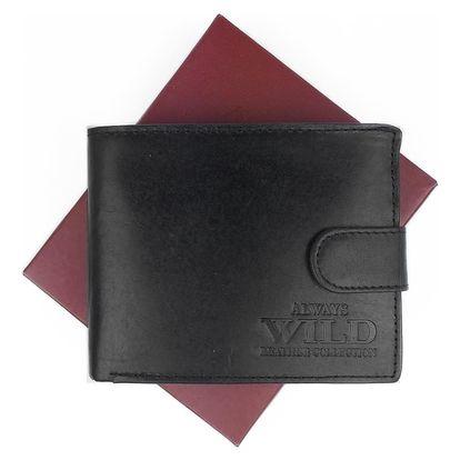 ALWAYS WILD pánská kožená peněženka na šířku, se zapínáním