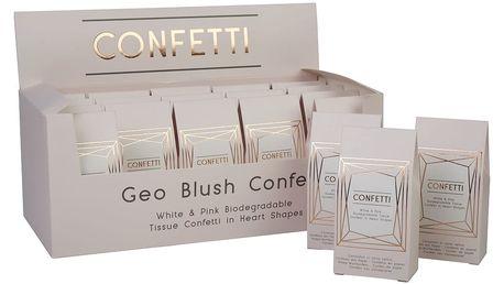 Sada 20 krabiček s papírovými konfetami Neviti Geo Blush