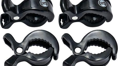 LODGER Klipy na kočárek Swaddle Clip 4 ks – Black