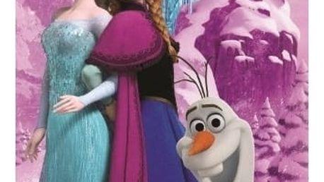 Jerry Fabrics Osuška Ledové království Frozen Pink trio