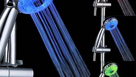Sprchová hlavice s LED podsvícením