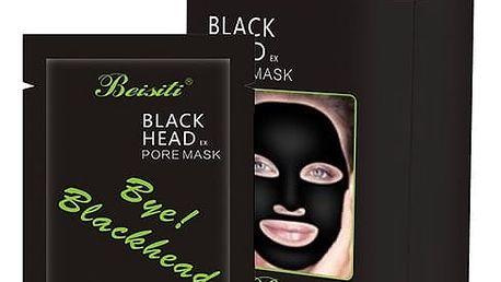 Černá slupovací maska 10 ks