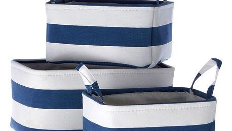 Sada 3 úložných modrobílých košíků Premier Housewares Sailor