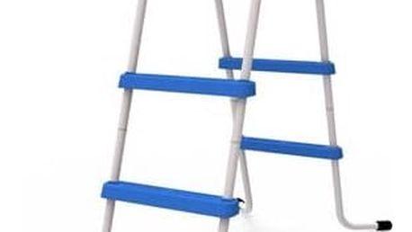 Schůdky do bazénu MASTER POOL výška 84 cm šedý/modrý + Doprava zdarma