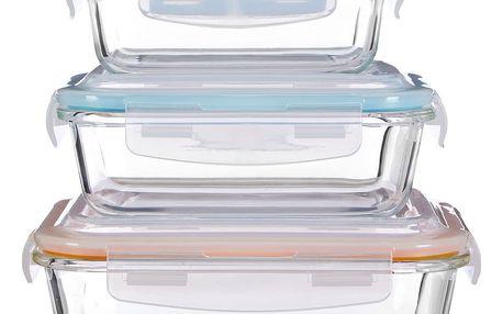 Sada 3 úložných skleněných boxů Premier Housewares Freska
