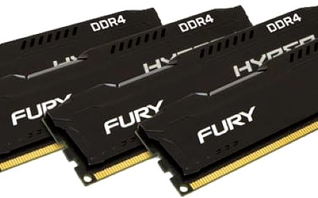 Kingston HyperX Fury Black 16GB (4x4GB) DDR4 2133 CL 14 - HX421C14FBK4/16