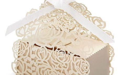 Krabičky na výslužky - bílá