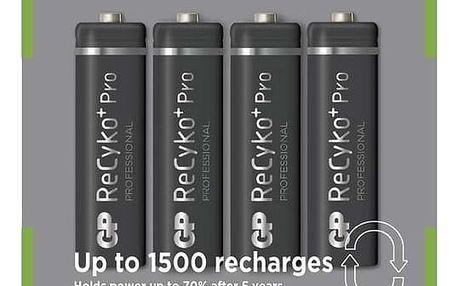 GP Recyko+ AA Ni-MH 2050mAh, 4ks - 1033214073 + Zdarma GP Nabíječka baterií Quick 3 v hodnotě 359,-