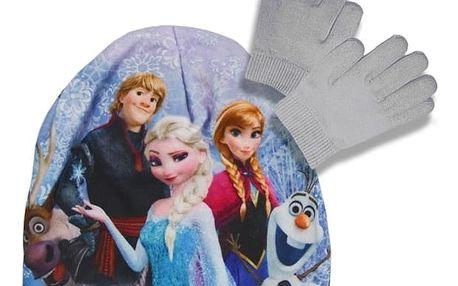 Souprava čepice a rukavic Frozen - šedá