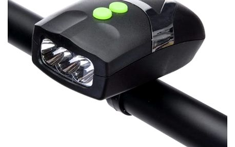 Univerzální LED světlo na kolo se zvonkem