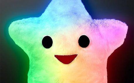 HAPPY STAR LED Polštář