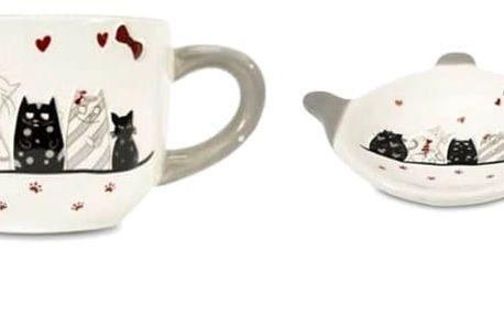 Krásný velký hrneknebomiska na čajový sáček.Originální dárek pro všechny milovníky kočiček.