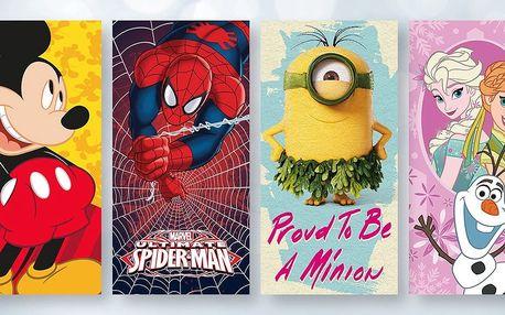 Bavlněné osušky s filmovými a pohádkovými motivy