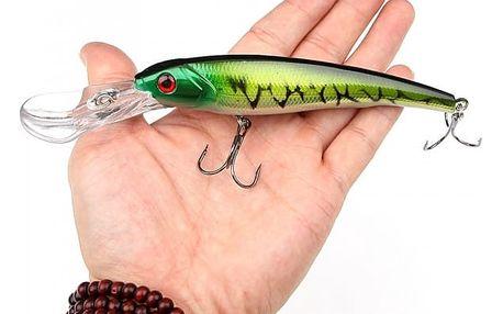Velká rybářská nástraha s háčkem v podobě rybičky - 8 variant
