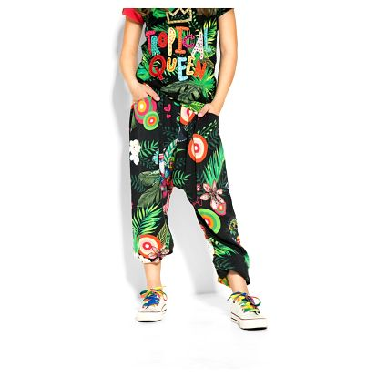 Desigual tropické dívčí kalhoty Dinosaurio - 11/12