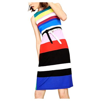Desigual pruhované šaty Petra - XL