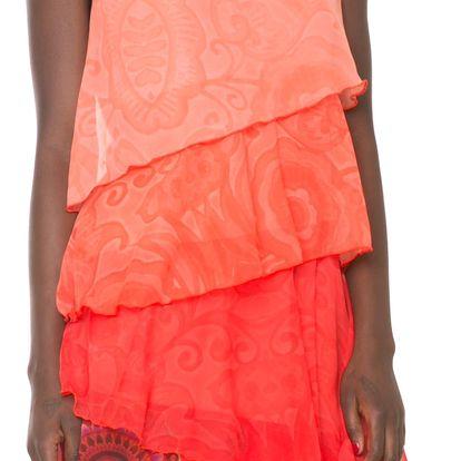 Desigual oranžové šaty Nerea - 36