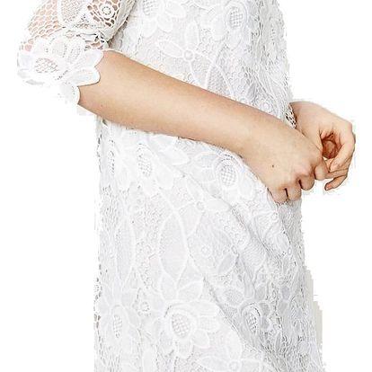 Desigual bílé krajkové šaty Selsi - 44