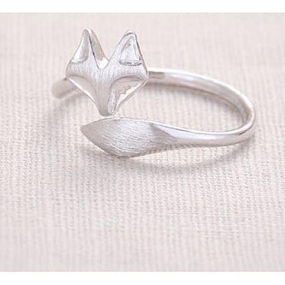 Jemný prstýnek s liškou - dodání do 2 dnů