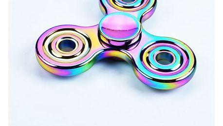 Duhový Fidget spinner - trojcípý