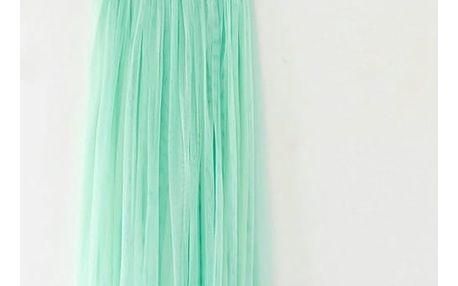Lehká sukně na léto - tyrkysová - dodání do 2 dnů