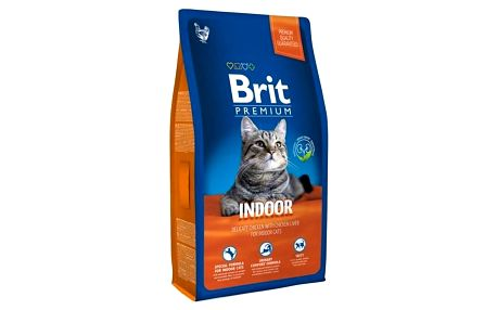 Granule Brit Premium Cat Indoor 8kg
