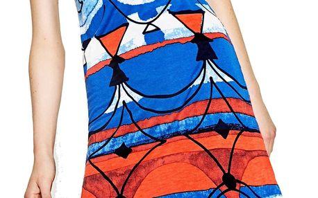 Desigual modré šaty Maribel - XXL
