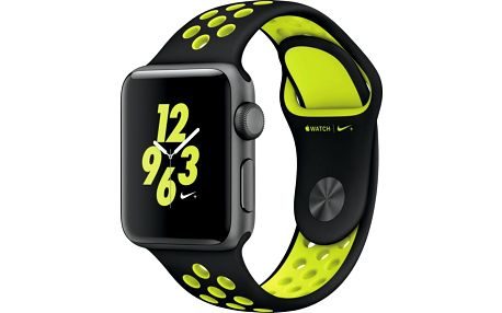 Apple Watch Nike + 38mm Space Grey Aluminium Case with Black/Volt Nike Sport Band - MP082CN/A