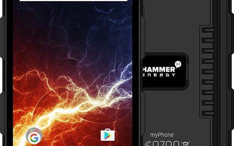 myPhone HAMMER ENERGY, černá - TELMYAHAENERBK + Zdarma GSM reproduktor Accent Funky Sound, červená (v ceně 299,-)