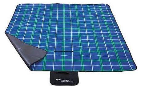 Pikniková deka Spokey PICNIC CHECKERED 150 x 180 cm modrá