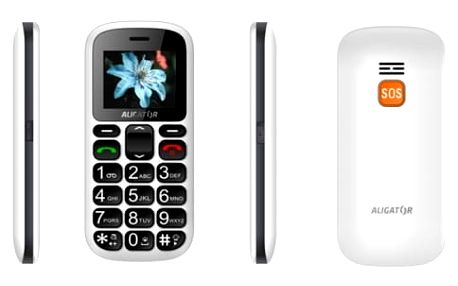 Mobilní telefon Aligator A321 Senior Dual SIM (A321WT) bílý