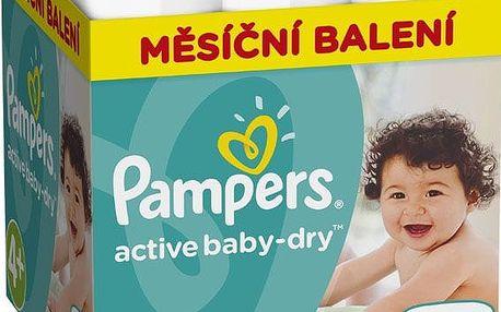 Pampers Pleny Active Baby 4+ Maxi Měsíční balení - 152 ks