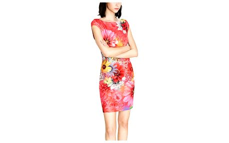 Desigual barevné šaty Pichi Luka - XL