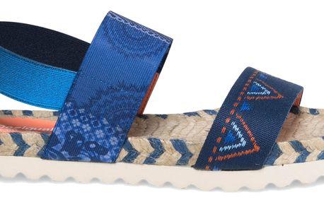 Desigual modré sandály Formentera Denim Patch - 38