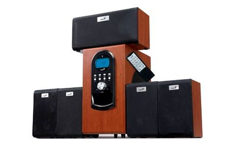 Reproduktory Genius SW-HF 6000 5.1 (31730022101) imitace dřeva + Doprava zdarma